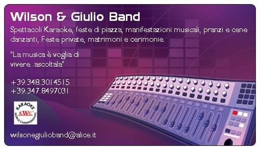 Biglietto Da Visita Wilson Giulio Band